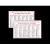 Calendario Tascabile - Semestrini